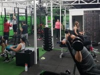 Morning indoor boot camp