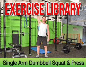 Single Arm Dumbbell Squat & Press - Exercise Library