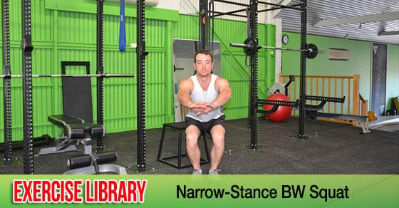 Narrow-Stance Bodyweight Squat FB