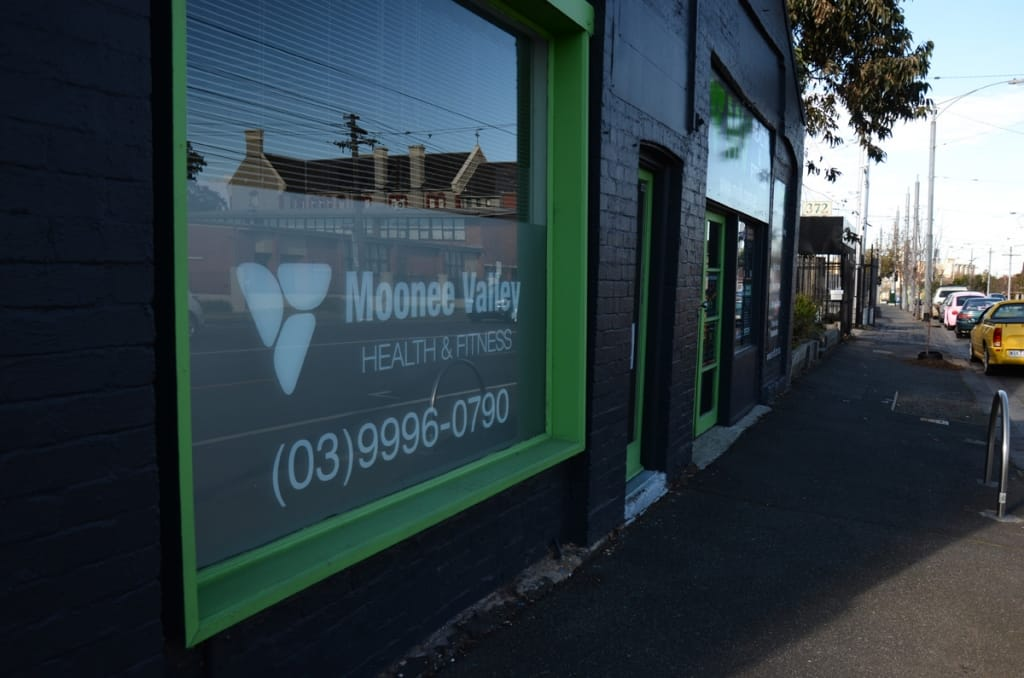 Moonee Valley Health and Fitness front of our gym
