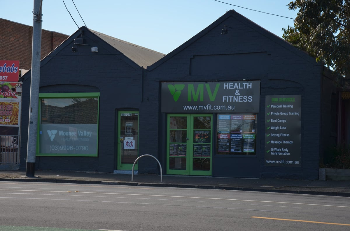 Moonee Valley Health and Fitness front of studio