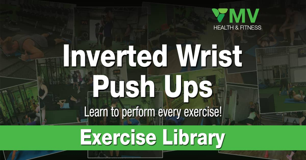 Inverted Wrist Push Up