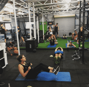 HIIT boot camp session