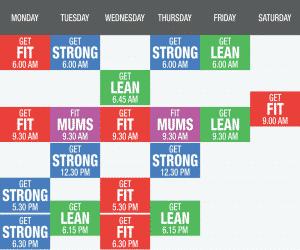 Group Boot Camp Timetable