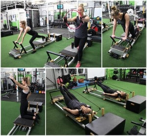 clients taking part in a clinical pilates class