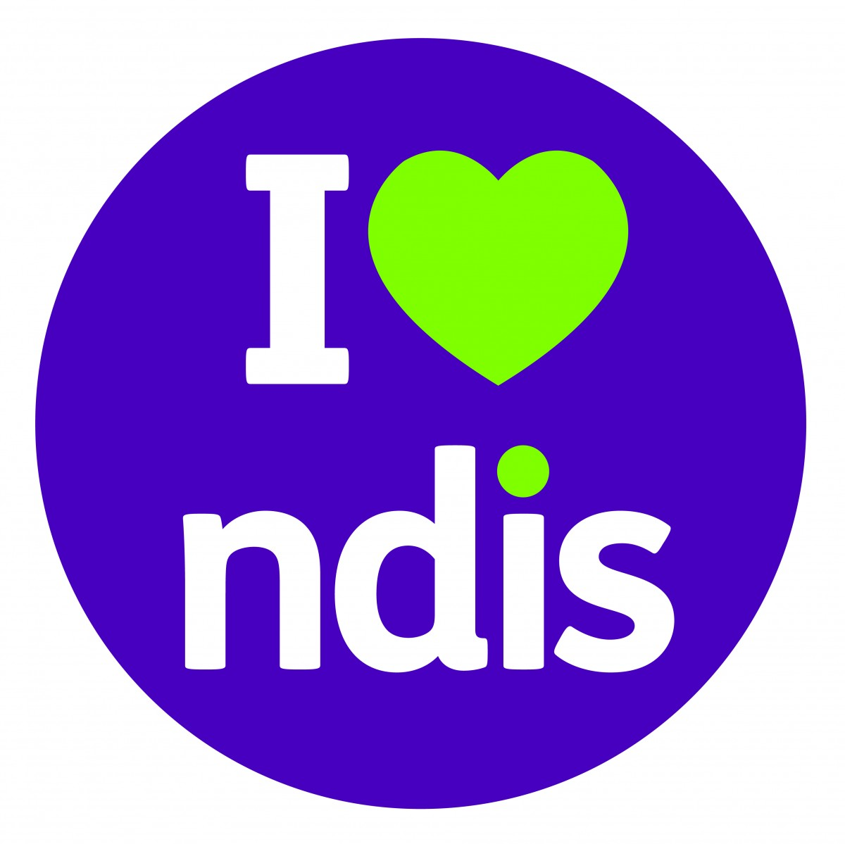 the i love ndis logo