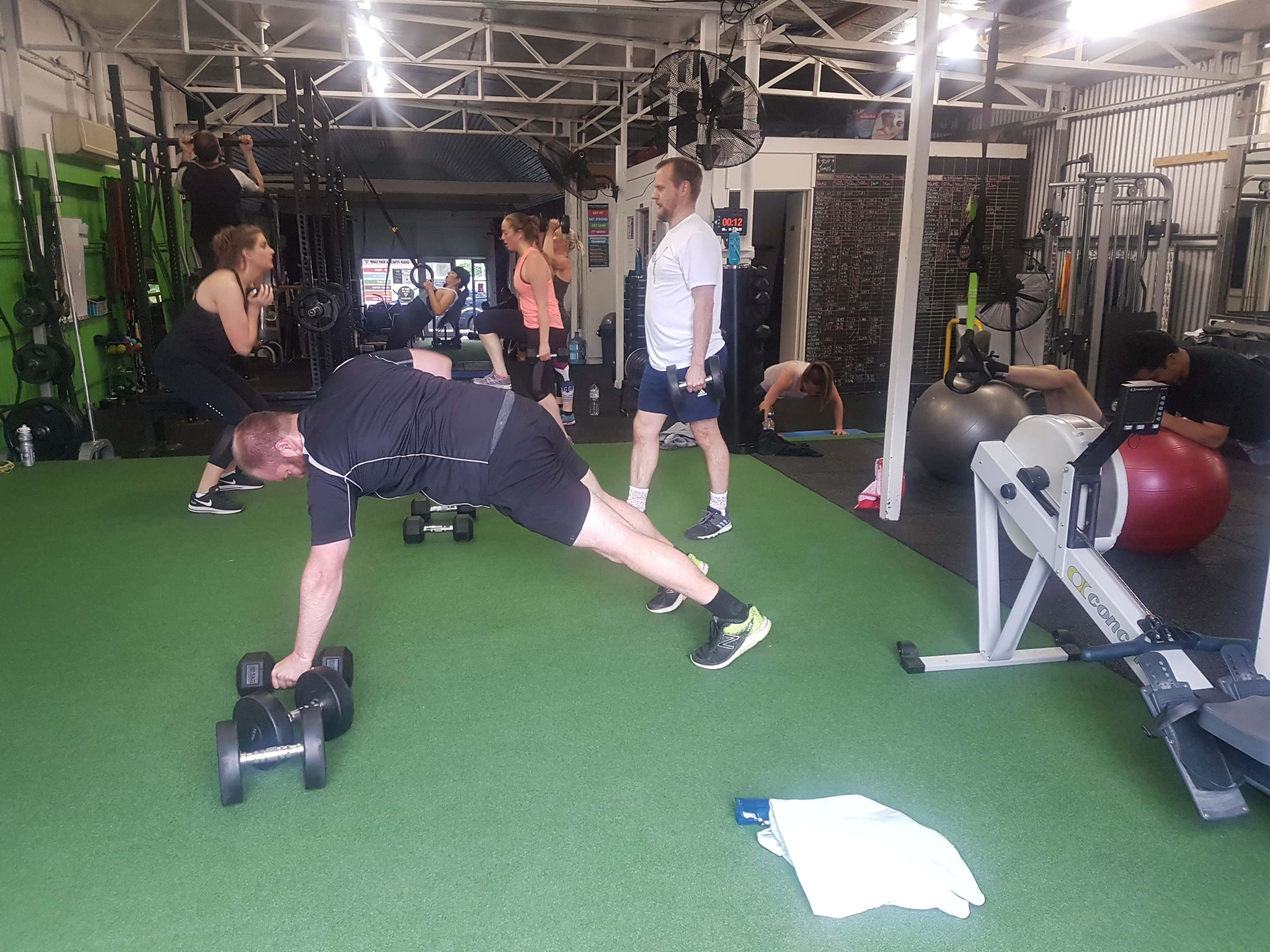 group of people exercising in our Melbourne gym